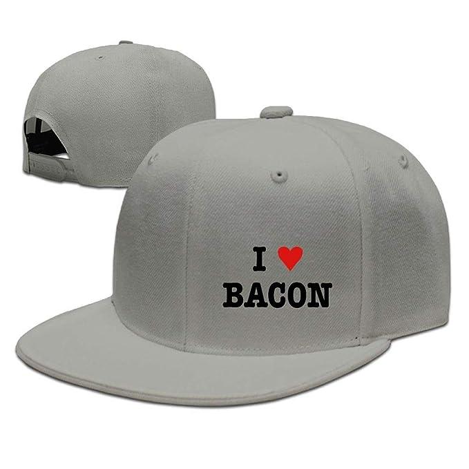 2be4c1b2e08da Megashirtz I Heart Bacon Cowboy Hat Baseball Caps Unisex Adjustable ...