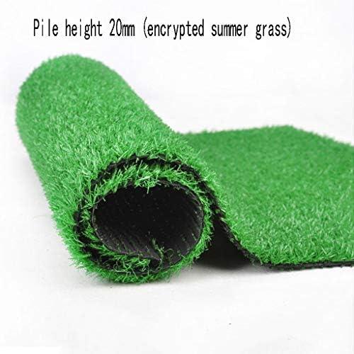 XEWNEG 暗号化された人工芝、杭の高さ20mm、屋内/屋外の装飾に適した緑色の合成滑り止めグラスカーペット、幅2m (Size : 2×10m)