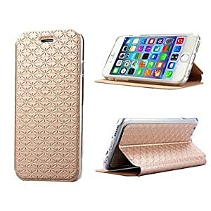 YULIN PU Leather Ling Plaid Pure Color Costly Protection Holster for iPhone 6 (Assorted Colors) , Pink