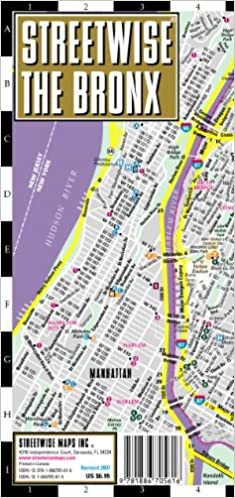 Streetwise The Bronx Map Laminated City Center Street Map of The