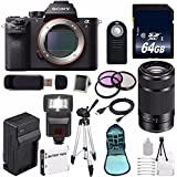 Sony Alpha a7R II Mirrorless Digital Camera (International Model no Warranty) + Sony E 55-210mm f/4.5-6.3 OSS E-Mount Lens (Black) + 49mm 3 Piece Filter Kit 6AVE Bundle 113