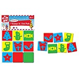 Children's Kids Christmas Xmas Foam Stamps Stampers & Ink Pads Set Tree Cracker by The Home Fusion Company