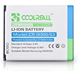 Coolreall 2100mAh Li-ion Replacement Battery for Samsung Galaxy S3, i9300 (NFC Capable)