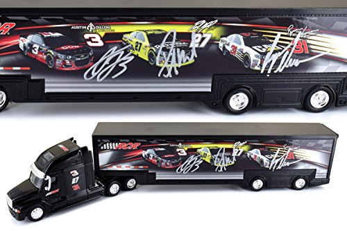 Autographed Team RCR 2017 NASCAR 1:64 Scale Hauler - Signed By Austin Dillon, Paul Menard, and Ryan (Diecast Hauler Collectible)