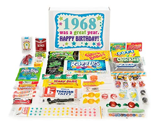 Old Tyme Candy (Woodstock Candy ~ 1968 51st Birthday Gift Box Vintage Nostalgic Retro Candy Assortment from Childhood for 51 Year Old Man or Woman Born)