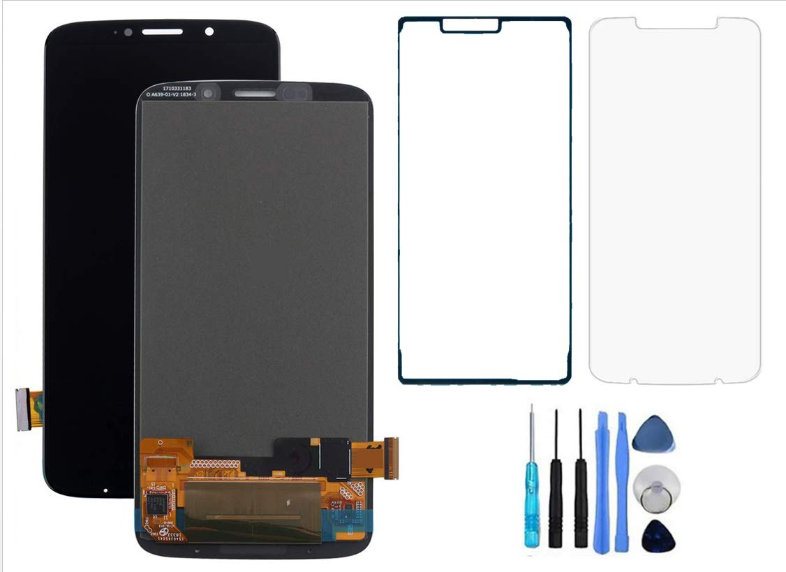 for Moto Z3 Play LCD OLED Screen Replacement Touch Digitizer Glass Display + Adhesive + Temppered Glass + Tool for Motorola Z3 Play ZT1929 Series 1 3 4 5 6 8 Repair Part by WirelessFinest