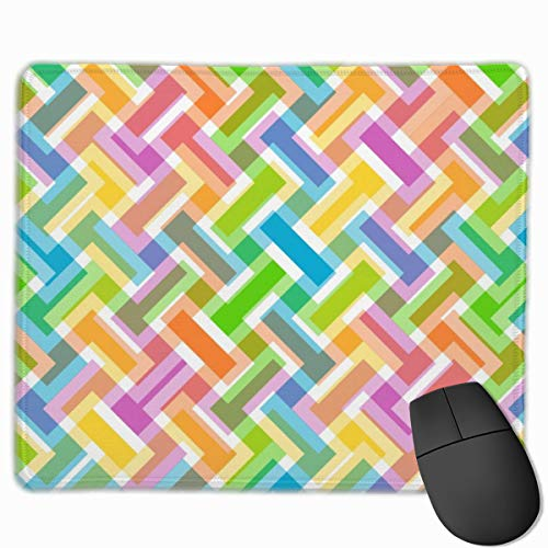 Classic Customized Gaming Mouse Pad Custom for Computers Laptop Abstract Pattern Colorful Wallpaper