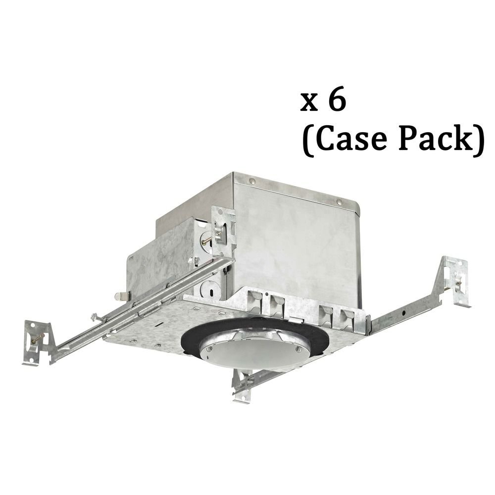 Recesso 4-Inch New Construction Recessed Can Light - IC & Airtight - Case Pack of 6