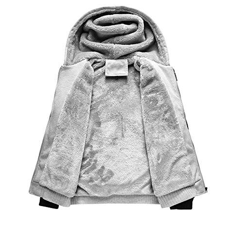 a7f292c166f MANLUODANNI Men s Winter Black Warm Jacket Hooded Outwear Coat   Amazon.co.uk  Clothing