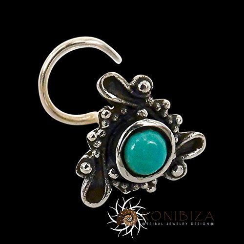 - Silver Nose Stud - Tiny Nose Stud - Nose Jewelry - Nose Piercing - Indian Nose Stud - Tribal Nose Stud - Nostril Stud - Nostril Jewelry (Turquoise Nose)