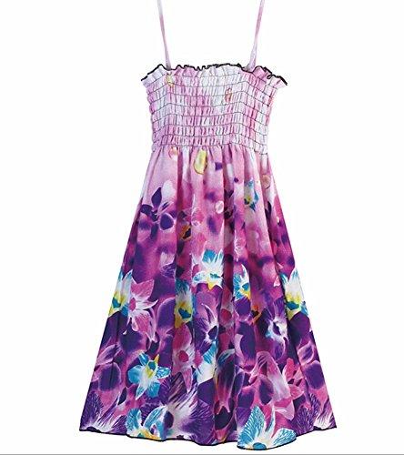 MULLSAN Little Big Girls' Long Dress Bolero Casual Beach Dress Size 3-12 (6-8 Years, GD2) -