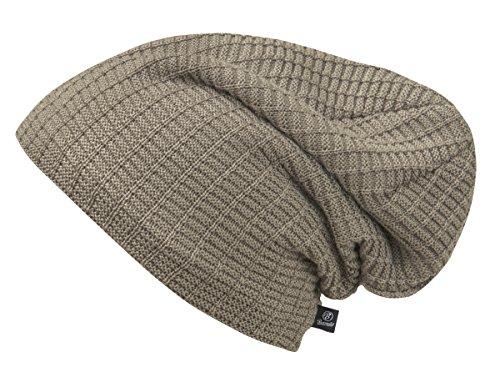 2 Unisex Brandit Taupe John Knitted Ajour Pack of Beanie AwwqO