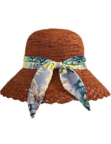 Femminile Mano Spiaggia Pieghevole Sole Della Sun Marea Dipinto A Morbido Confortevole E Di Cappello Del Estate qwvqfX