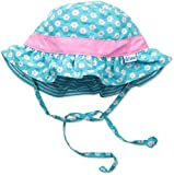 i play. Baby Girls' Reversible Ruffle Bucket Sun Protection Hat, Aqua, 9-18 Months