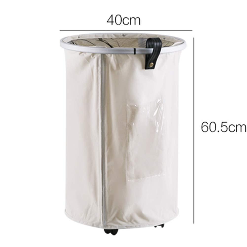 White 404060.5cm ZHANGQIANG Storage Basket Laundry Basket Cotton Cloth Art Iron Frame Folding Hamper Laundry Basket Dirty Clothes Storage Basket Toy Clothes Basket Waterproof Hamper