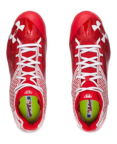 Under Armour Mens Ua Inganno Mid Diamondtix Bitte Da Baseball - All-star Game Edition Rosso / Bianco