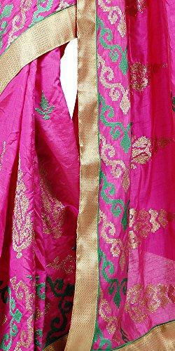 Meghdoot Women Indian Traditional Party Wear Tussar Dupion Raw Silk Saree Sari