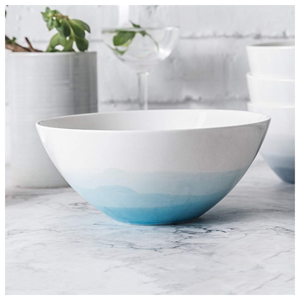 YYF Nordic Creative Western Soup Bowl - Alpine Series Tableware 4.5-6.5 inches (Color : Blue, Size : 17.2cm)
