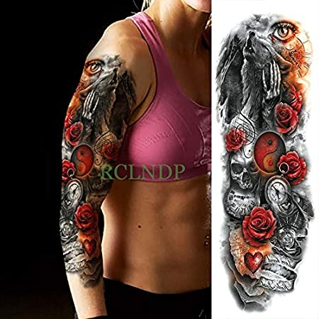 3pcs Tatuaje Impermeable Etiqueta engomada Flor Hermosa del Mismo ...