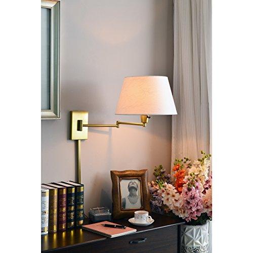 Vintage Laurel (Laurel Creek Weston Vintage Brass Wall Swing Arm Lamp)