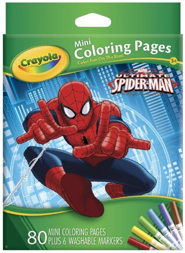 Crayola Ultimate Spiderman Mini Coloring Pages]()