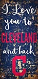 Fan Creations MLB Cleveland Indians I Love You to Signcleveland Indians I Love You to Sign, Team, One Sizes