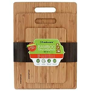 Freshware Bamboo Cutting Board, Set of 3