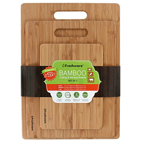 Freshware Bamboo Cutting Board, Set of 3 by Freshware (Image #6)