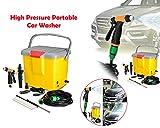 DeoDap ABS Plastic Mini Portable Multifunctional High Pressure Powerful Electric Washer Gun Water Pump for Garden/Bike/Pet Wash, Medium (Multicolour)