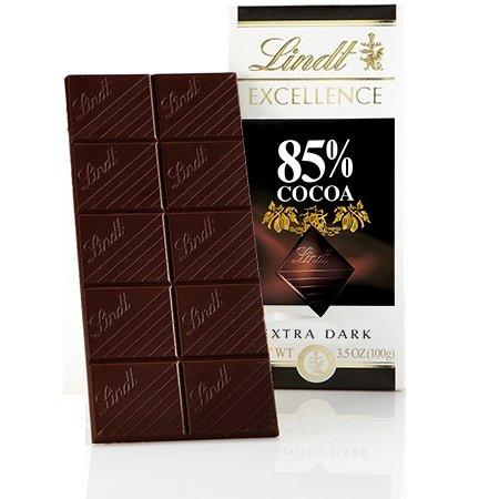 Lindt Excellence 85% Cocoa Extra Dark Chocolate (2 Pack)
