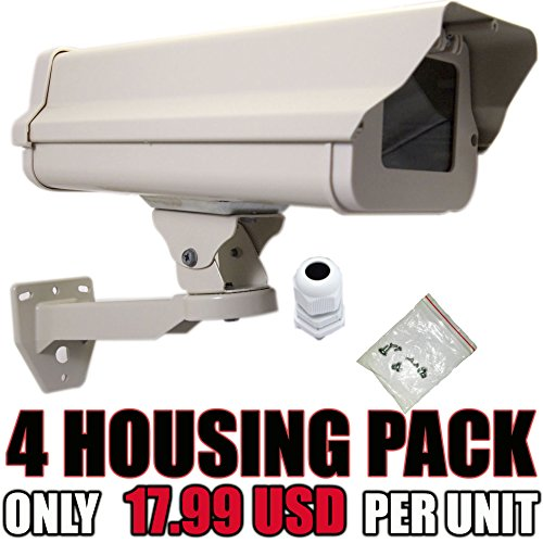 VENTECH (4 PACK) Outdoor Weatherproof Heavy Duty Aluminum CCTV Security Surveillance Camera (Housing Enclosure)