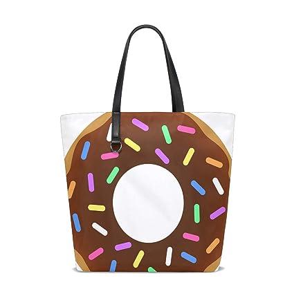 Amazon.com: Donut Chocolate Tote Bag Purse Handbag Womens ...