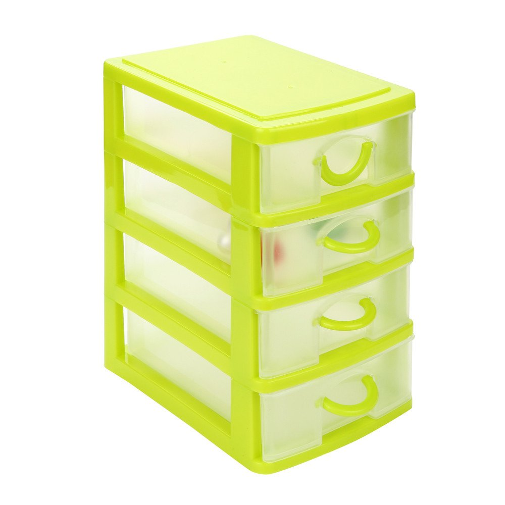 Clearance!Durable Plastic Mini Desktop Drawer Sundries Case Small Objects AmyDong Storage Box Drawer Case XL, Pink