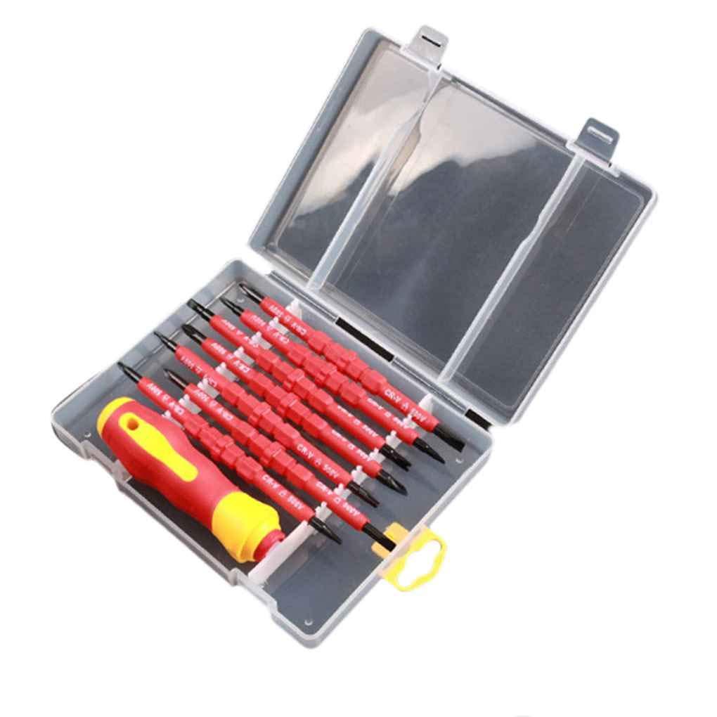 Firiodr 7 in 1 Multi-Purpose Repair Tool Kit Double Head Magnetic Precision Screwdriver Set for Laptop Phone