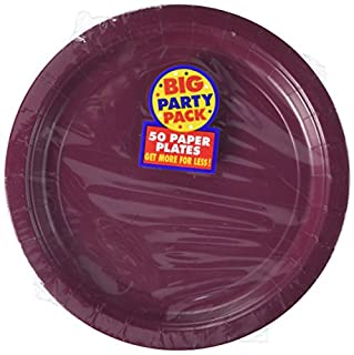 """Big Party Pack Berry Red Paper Plates   9""""   Pack of 50   Party Supply (B004UPYIVS)   Amazon price tracker / tracking, Amazon price history charts, Amazon price watches, Amazon price drop alerts"""