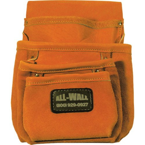 Perma Pouch Top Grain Leather 4-Pocket Nail / Screw Pouch by Perma Pouch