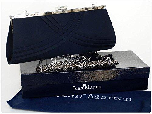 Borsetta da sera cerimonia Jean Marten in puro raso A254 Blu AZ34