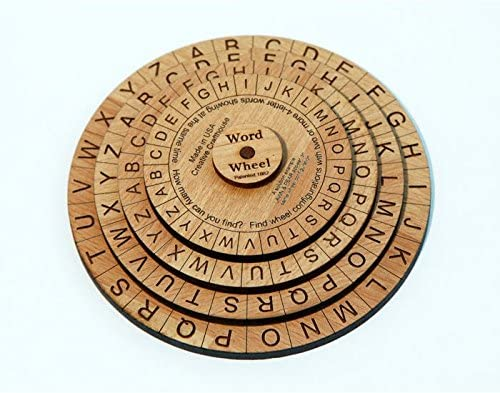 Word Wheel Puzzle board game for reading fluency