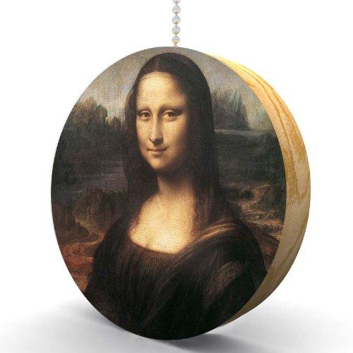 (Da Vinci The Mona Lisa Hardwood Oak Fan/Light Pull )