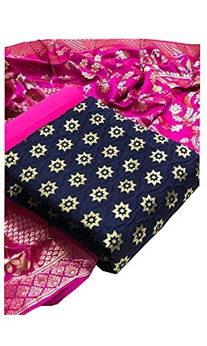 MP Enterprise Womens Banarasi Silk Salwar Suit Dress Material with Dupatta