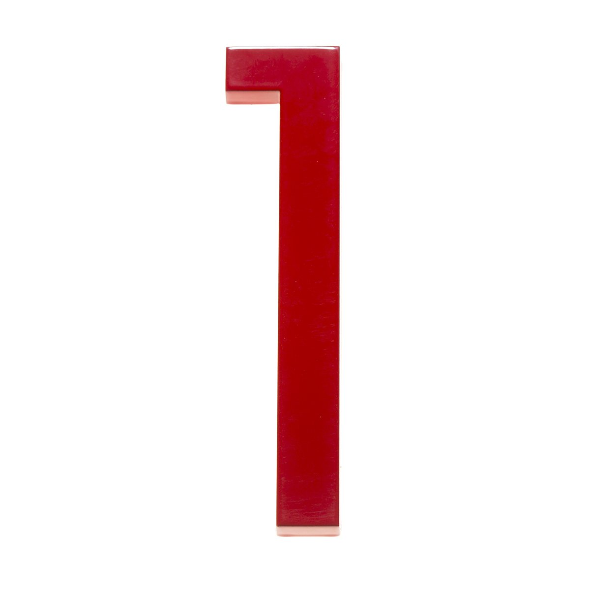 Modern House Number Red Color Aluminum Modern Font (Number 1) by Moderndwellnumbers.com (Image #1)
