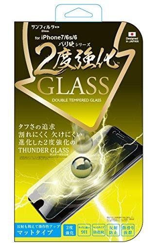 伝説反発週間サンクレスト サンフィルター iPhone8/7/6s/6対応 4.7インチ対応 バリ硬 2度強化ガラス マットタイプ iP7-GLAGW