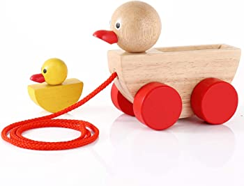 Babe Rock Wooden Ducks Pull Toy Set