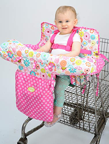 Little Girl Shopping - Nuby Baby Shopping Cart Cover and