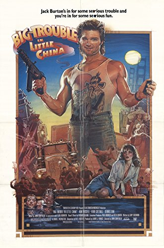 Big Trouble In Little China 1986 Authentic Original Movie Poster Fine, Very Fine Kurt