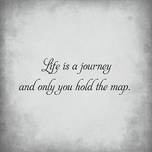 Life Is A Journey & Only You Hold The Map Novelty Square Aluminum Metal Sign Light Grey Background Black Lettering