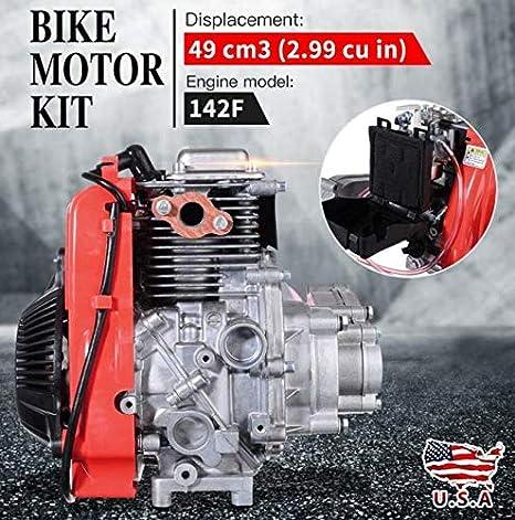 CiAn 49CC - Kit de Motor de Bicicleta motorizado a Gasolina de 4 Tiempos para Scooter: Amazon.es: Jardín