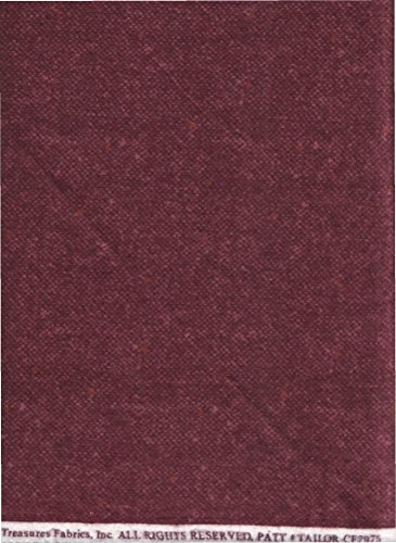 - Plum Purple Tweed Woolie Print Flannel Fabric ~ Tailor Made Timeless Treasures Flannel Fabric ~ HALF YARD!! ~ PATT# TAILOR-CF7975 ~ Luxurious, Heavy Wooly Flannel Quilt Fabric ~ 100% Cotton 45