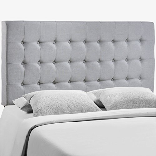 Modway Tinble Queen Upholstered Linen Headboard In Gray Basic Info