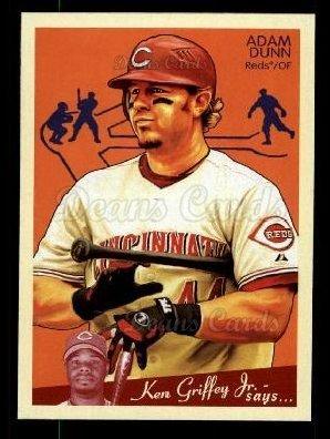 2008 Upper Deck Goudey # 50 Adam Dunn Cincinnati Reds (Baseball Card) Dean's Cards 8 - NM/MT Reds